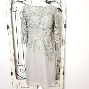 JJ's House silver formal dress size 14